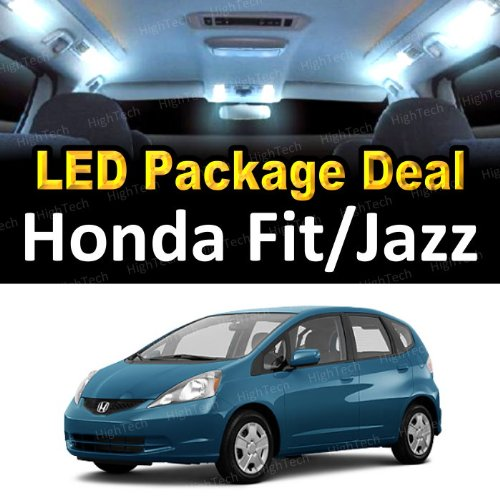 LED Interior Package Super Bright White Light Bulbs for 2009 Honda Fit / Jazz ( 4 Pieces )