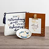 Dayspring Love & Mercy, Inspirational Trinket Dish, Canvas Pouch and Clip Frame Gift Set