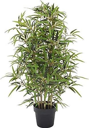 Bambou Artificiel Resistant Aux Rayons Uv 4 Tiges De 100 Cm De Haut