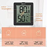 Geevon Digital Hygrometer Indoor Thermometer Room