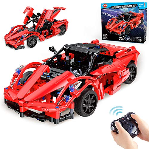 VATOS STEM RC Building Toys for Boys STEM Toys for 6 Year Olds Remote Control Cars Engineering Building Bricks Roadster Kits Racer Toy Racing Car Building Blocks Best Gifts for Kids Age 6 7 8 9+