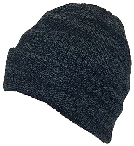 Best Winter Hats 3M 40 Gram Thinsulate Insulated Cuffed Knit Beanie (One Size) - Black/Dark Gray