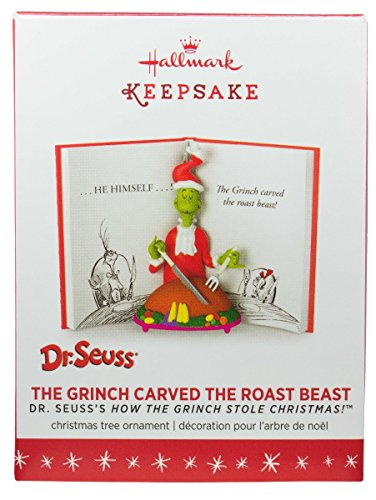 amazoncom hallmark 2016 dr seuss the grinch christmas ornament kitchen dining