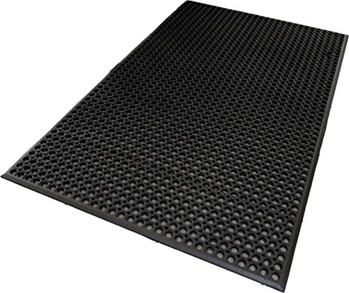 Mats Inc. Professional Series Kitchen Mat, 3' x 5', Black