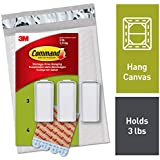Command Large Canvas Hangers, Indoor Use (PH044-3NA), 3 Hooks