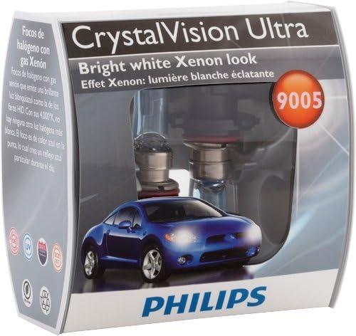 1 Pack Philips 9005 CrystalVision Ultra Upgrade Bright White Headlight Bulb