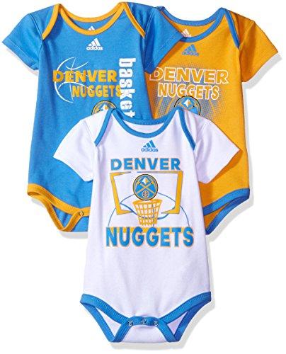 Baby Nuggets (NBA Infant Denver Nuggets 3 Point Bodysuit Set-Light Blue-12 Months)