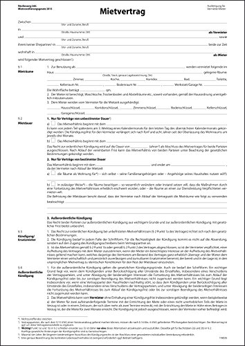 Sigel MV464 Mietvertrag mit Hausordnung, 4seitig, DIN A4, 25 Stück - aktualisiert 2015