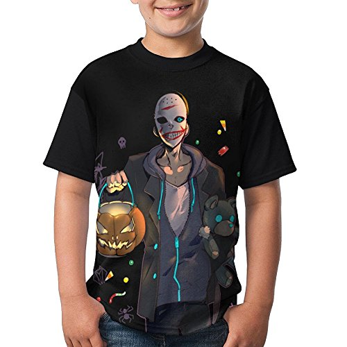Dnim T-shirts Boys T Shirt Trick Or Treat in Halloween Casual Black Top (Simplicity Halloween Patterns For Toddlers)