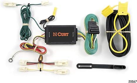 curt 55567 vehicle side custom 4 pin trailer wiring harness for select mazda 3, 6, toyota camry, fj cruiser  toyota fj cruiser towing wiring harness #11