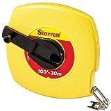 Starrett KTS510-100ME-N ABS Plastic Yellow Case Closed Reel Steel Long Tape, English/Metric Graduation Style, 100' (30m) Length, 0.375'' (9.5mm) Width, 0.125'' Graduation Interval