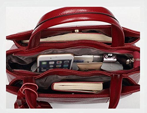 ZCJB Große Frauen Handtaschen Handtaschen Handgepäck Ross-Körper Taschen Schultertaschen Messenger Bags Für Frauen ( Farbe : Schwarz ) Rotwein EuNHyL