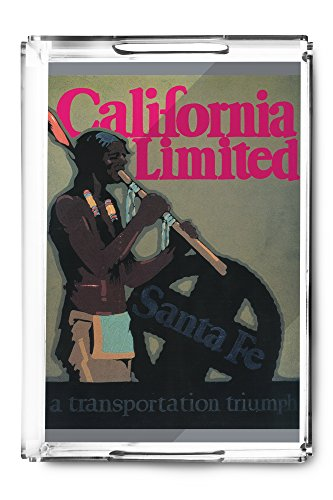 The California Limited Train Travel Poster (Acrylic Serving Tray) ()