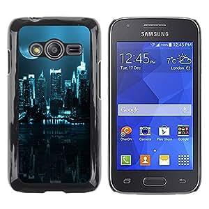 Caucho caso de Shell duro de la cubierta de accesorios de protección BY RAYDREAMMM - Samsung Galaxy Ace 4 G313 SM-G313F - City Nighttime