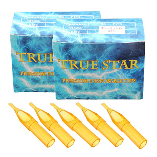 Disposable Tattoo Tips - SOTICA 100pcs Assorted Tattoo Tips Tubes for 3RL 5RL 7RL 3RS 5RS 7RS 9RS 5MG 7MG 9MG Tattoo Needles Round Diamond Flat/Magnum Sterileze Tips Grips Tattoo Supplies Tattoo Kits