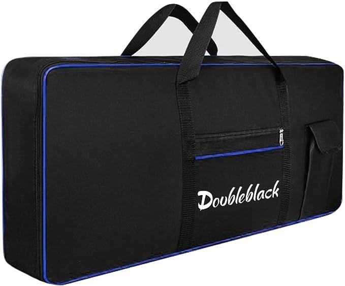 Doubleblack Bolsa Teclado 61 Teclas Funda Transporte para Organo Piano Electrico Acolchada Cubierta Portatil Maleta Protectora Mochila Oxford 600D ...