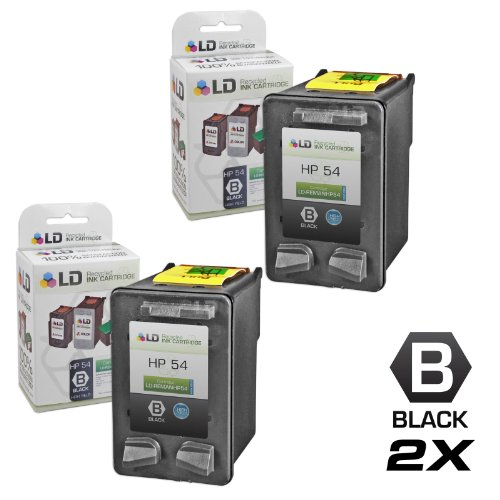LD Remanufactured Replacement Ink Cartridges for (HP) CB334AN (HP 54) High Yield Black (2 (Hp Inkjet 3180 Fax)
