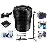 Panasonic Lumix DG Leica Vario-Elmarit 8-18mm f/2.8-4 Asph. Zoom Lens Micro Four Thirds Mount - Bundle 67mm Filter Kit, Flex Lens Shade, FocusShifter DSLR Follow Focus, Software Pack, More