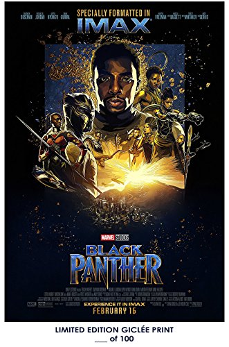 BLACK PANTHER Movie PHOTO Print POSTER Textless Art IMAX Chadwick Boseman 018