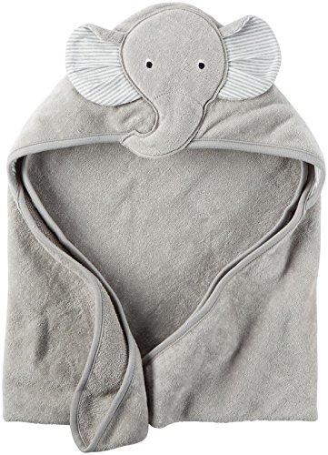 Carters Hooded Bath Towel Elephant