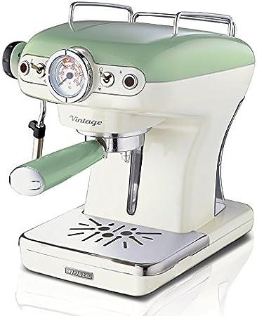 Ariete 1389 Cafetera espresso vintage, 900 W, 2 Cups, plástico, Verde: Amazon.es: Hogar