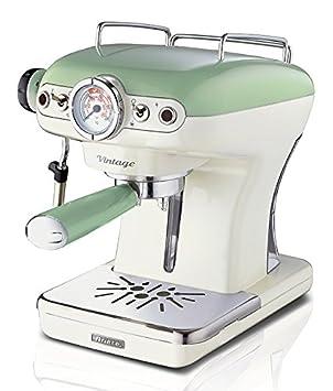 Ariete Reino Unido 1389 Retro Espresso cafetera eléctrica, 900 W, Cappucino café máquina Vintage serie verde: Amazon.es: Hogar