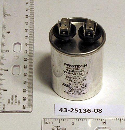 Rheem Ruud Protech 43-25136-08 15/370 Single Round Capacitor ()