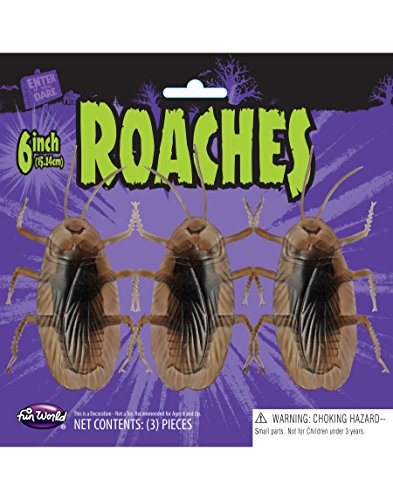 Adult Cockroach Halloween Costumes (Giant Plastic Cockroaches 15Cm Pack Of 3)