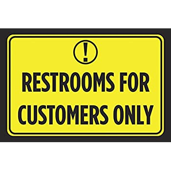 Amazon.com: Baños sólo para los clientes Amarillo Brillante ...