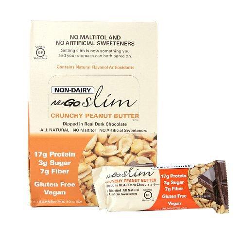 Bulk Saver Pack 12x1.59 OZ : NuGO Nutrition Bar - Slim Crunchy Peanut Butter - 1.59 oz