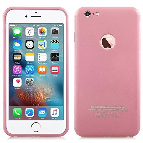 Alienwork Schutzhülle für iPhone 6/6s Roségold Hülle Case Bumper Stoßfest Aluminium pink AP6S13-03
