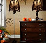 VT BigHome 1 Piece Halloween Decoration Black Lace Spiderweb Shades Fireplace Mantle Scarf Cover Curtains Festive Party Supplies