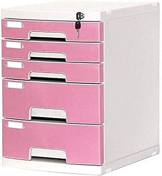 Archivadores Archivadores con Llave 5 cajones A4 Archivo Dispositivo de Almacenamiento Caja de Almacenamiento: Amazon.es: Electrónica