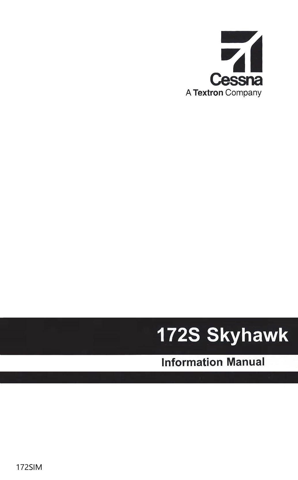 Cessna 172s 1998 up pilots information manual part 172sim cessna 172s 1998 up pilots information manual part 172sim essco aircraft amazon books fandeluxe Images