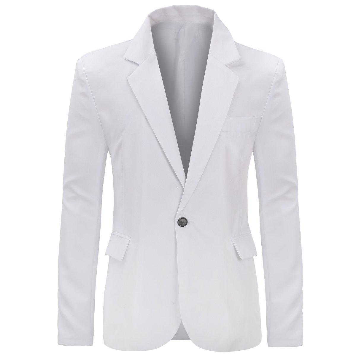 YUNCLOS Men's Slim Fit Casual One Button Notched Lapel Blazer Jacket