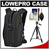 Lowepro Flipside 200 Backpack Digital SLR Camera Case (Black) + Tripod + Accessory Kit for Canon Digital SLR Cameras
