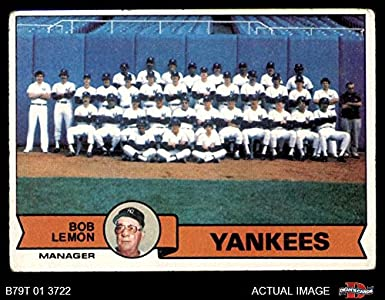 Amazoncom 1979 Topps 626 Yankees Team Checklist New York