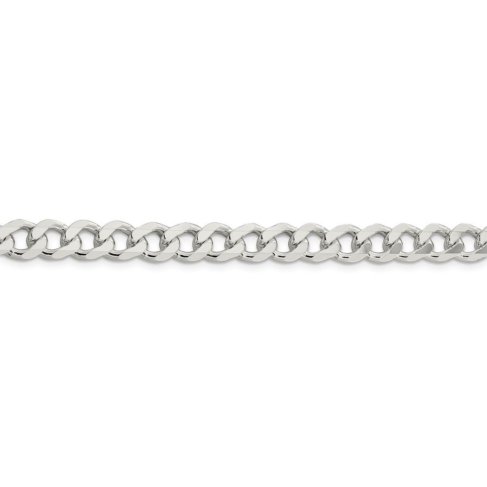 Diamond2Deal 925 Sterling Silver 7.5mm Curb Bracelet for Women Fine Jewelry Ideal Gifts for Women