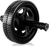 Ab Wheel & Roller - Core & Abdominal Trainer - Portable and Double Wheel Carver for Strengthening & Shaping Arms, Abs, Shoulders, & Back - by Utopia Fitness