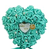 Best Ring Pillow With Pearl Rhinestones - Mimgo Srore Elegant Rose Wedding Favors Heart Shaped Review