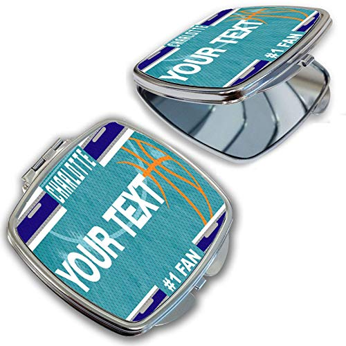 BRGiftShop Personalize Your Own Basketball Team Charlotte Compact Pocket Cosmetic Mirror