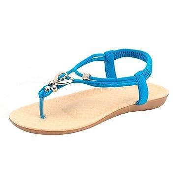 472dc7a0e223 Sunday Women Summer Fashion Bohemia Sweet Beaded Sandals Ladies Soft Flat  Slipper