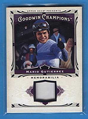 Mario Gutierrez 2013 Upper Deck Goodwin Champions Memorabilia Relic Card #M-MG Kentucky Derby Winner