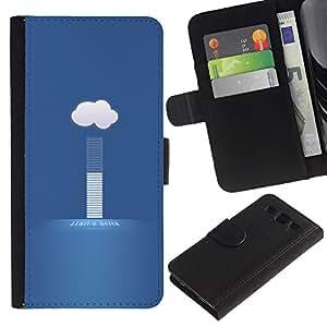 KLONGSHOP // Tirón de la caja Cartera de cuero con ranuras para tarjetas - nube tiempo hoy - Samsung Galaxy S3 III I9300 //