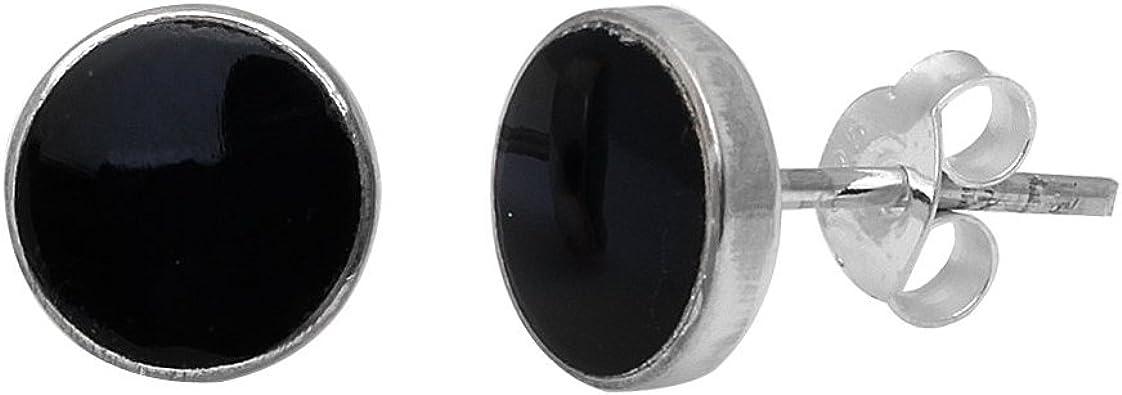 Pendientes Mini Onix de Plata con /Ónix