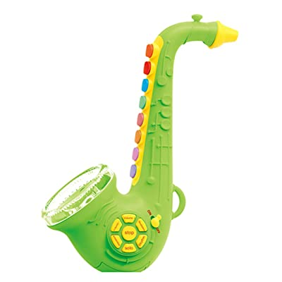 HMANE Saxophone Musical Instrument Toys with Light & Sound Early Education Toy for Boys Girls - Green: Toys & Games