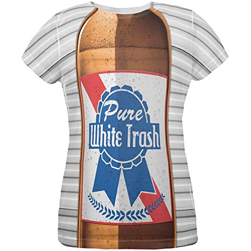 Old Glory 4th of July Halloween Pure White Trash Beer Costume All Over Womens T Shirt Multi SM