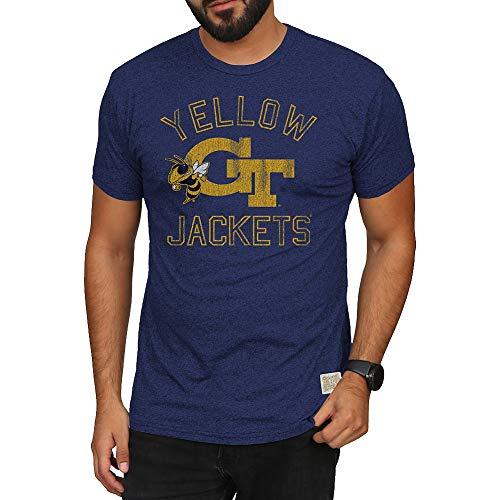 - Elite Fan Shop Georgia Tech Yellow Jackets Retro Tshirt Navy - XL