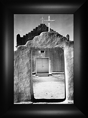 Taos Pueblo By Ansel Adams 24x18 Desert Cactus Cacti Grand Canyon National Park Arizona New Mexico California Nevada Bible Verse Adobe Building Framed Art Print Wall Décor Picture
