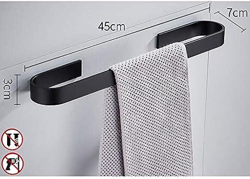 WISKEO Toalleros De Barra Adhesivos Aluminio para Ba/ñO Cocina Plata Brillante 60CM No Hay Instalaci/óN De Perforaci/óN
